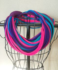Infinity Scarf  Dk Multicolored 23 strands by sister9designs, $18.00