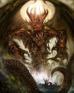 Cthulhu Rising by *AlexRuizArt on deviantART
