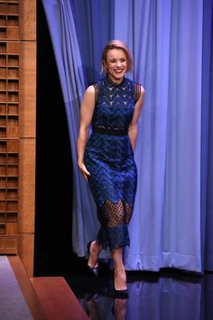 Rachel McAdams Cocktail Dress - Rachel McAdams rocked the sheer trend (while staying classy) in this Self-Portrait dress during her appearance on 'Jimmy Fallon.'