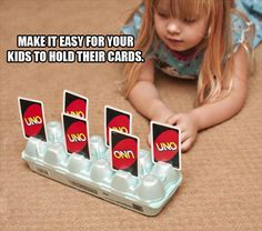 Life Hacks - Imgur  To help them hold cards