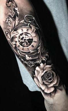 Time Hand Tattoos for Men . Time Hand Tattoos for Men . G Tattoo, Forarm Tattoos, Arm Sleeve Tattoos, Forearm Tattoo Men, Tattoo Fonts, Body Art Tattoos, Tatoos, Quarter Sleeve Tattoos, Dark Tattoo