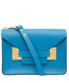 Sophie Hulme Blue Mini Envelope Bag   Accessories   Liberty.co.uk