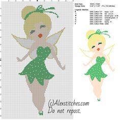Thinker Bell - Disney fairy free pattern (100x164)