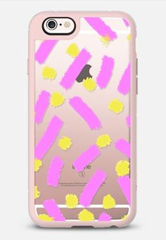 Purple Strokes & Dots - Brightly Spring iPhone 6s case by Allyson Johnson   Casetify