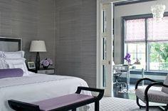 إشكال  اللون الرمادي ( الرصاصي ) في طلاء الحوائط لغرف النوم