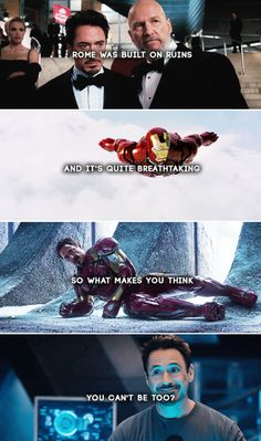 a little tony stark motivation ; Avengers Memes, Marvel Memes, Marvel Dc Comics, Marvel Avengers, The Mentalist, Infinity War, Marvel Quotes, Loki Quotes, Sherlock