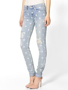 Rolled Slim Jean by Marc by Marc Jacobs. Polka dot jeans - oh for an unlimited budget!