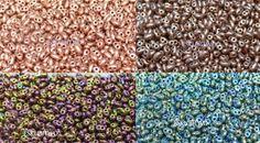 Abalorios Superduo o Twin. Estos abalorios tienen dos orificios para enfilarlos. Perfectos para hacer bisutería a tejido peyote.