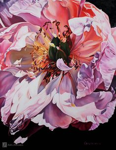 "Blushing Beauty 42""x54"" by Irina Gretchanaia. Art and Frames Gallery, Coronado, CA."