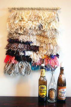Waterfalls - Woven Tapestry. $200.00, via Etsy.