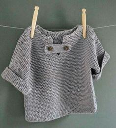 Baby Knitting Patterns, Knitting For Kids, Crochet For Kids, Baby Patterns, Free Knitting, Crochet Baby, Knit Crochet, Crochet Pattern, Baby Pullover Muster