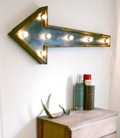vintage signs as wall decor {similar to the one i have in my paper crown office}