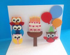 Birthday Cards Handmade Cards Popup Cards 3 by RoundTheCornerShop
