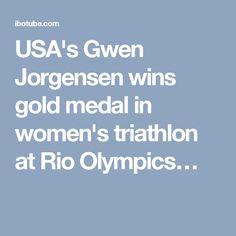 USA's Gwen Jorgensen wins gold medal in women's triathlon at Rio Olympics…