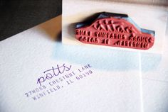 Personalized Address Stamp $25 by Studio255 on Etsy
