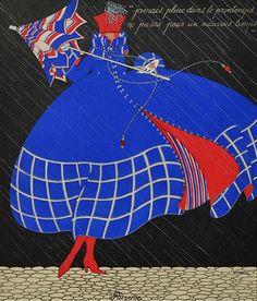 Martha Romme 1919 'Pluviose - January' Les douze mois de l'année aquarelle (watercolor)