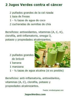 2 Green Smoothies to Fight Cancer