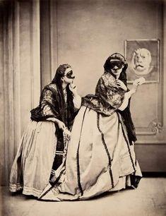 dawne stroje karnawałowe, karnawał, zabawa, bal, rozrywka w dawnych czasach, XIX wiek, blog historyczny, blog obyczajowy