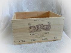 Kisten & Boxen - Weinkiste 'Chateau Baret' Vintage - ein Designerstück von Dragonflys-Home bei DaWanda