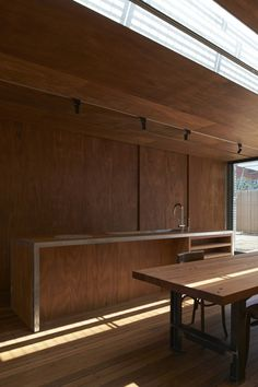 Too much wood? Probably. But nevertheless interesting stuff from Godsell in this home.