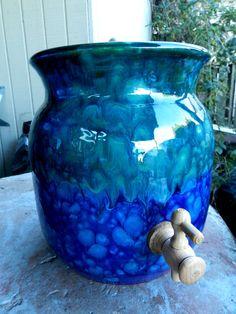 2 gallon ceramic kombucha crock Made to by MarkCampbellCeramics