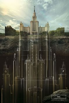 Incredible posters done by the Schusev State Museum of Architecture - Album on Imgur