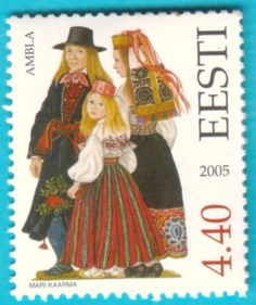 All* Estonian stamps: Estonia Folk Costumes. Järva County - Ambla