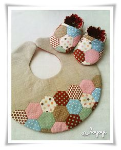Reversible Patchwork Baby Booties Giftset
