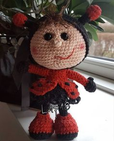 Project by @noerklerierne #littleowlshut #crochetpattern #amigurumi #amigurumidolls #doll #stelmakhova_galina #crochetpattern #crochetlove #amigurumi #littleowlshut #Patterns #Crochet #etsy #handmade #crochettoys #crocheting #handcrafted #handcraft #knittersofinstagram #crochetaddict #crochetdoll #Stelmakhova #crochetingisfun #craftastherapy #crocheteveryday #crochetlover #amigurumilove #ladybird #ilovecrochet #ladybug #insect