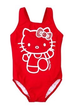 Hello Kitty Red One Piece Suit on HauteLook - wouldn't this be cute on Harper?