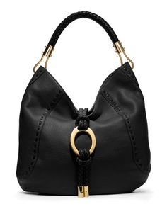 Michael Kors Skorpios Pebbled Ring Hobo.