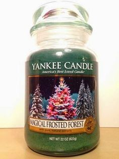 "Limited Edition Yankee Candle Christmas 2014 ""Magical Frosted Forest"""