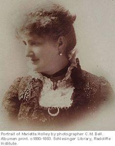 Marietta Holley  (Portrait of Marietta Holley by photographer C.M. Bell. Albumen print c. 1880-1883. Schlesinger Library, Radcliffe Institute.)