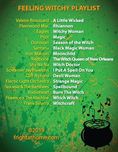 """Feeling Witchy"" Witch Themed Playlist - Fright At Home Halloween Playlist, Halloween Music, Holidays Halloween, Halloween Diy, Music Mood, Mood Songs, Witch Music, Song Playlist, Playlist Ideas"