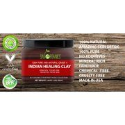 Indian Healing Clay By Sky Organics Pure & Natural Bentonite Clay-Therapeutic Grade - Face Skin Care, Deep Skin Pore Cleansing, Detoxifying- Helps with Acne & Rejuvenating Skin- Made. Image 2 of 4 Indian Healing Clay, Pore Cleansing, Shrink Pores, Bentonite Clay, Face Skin Care, Acne Prone Skin, 100 Pure, How To Look Better, Sky