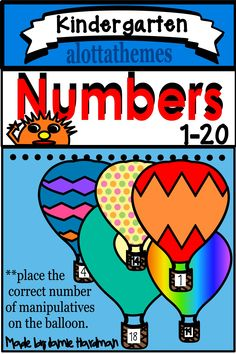 Students in preschool, Kindergarten Special Needs and Autism classrooms can practice their counting skills with this HANDS ON FINE MOTOR Hot Air Balloons count to These colorful balloons are fun and engaging. My kinders loved them. Subtraction Kindergarten, Kindergarten Learning, Alphabet Activities, Math Activities, Colourful Balloons, Colorful, Counting To 20, Cut And Paste Worksheets, Air Balloon