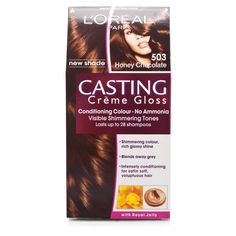 Love this colour! Chocolate Cast, Honey Chocolate, Loreal Casting Creme Gloss, Red Hair, Blonde Hair, Golden Brown Hair Color, Haircut And Color, Loreal Paris, Conditioner