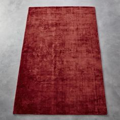 Shop Posh Red Rug. Handloomed From Silky Rayon Threads This Rich Rug Has An  Unmistakable Luxury About It. Subtle Bands Of Tonal Reds Break Up The Solid  ...