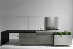 Concrete cabinets.  Jeremy and I will find a way to do this!  By Steininger Design