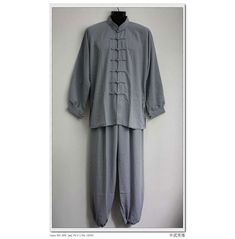 Asia-Sale Best Tai Chi, Kung Fu Clothing & Equipment Shop - Gray Hemp and Linen Wudang Tai Chi Uniform with Cuffs for Men and Women