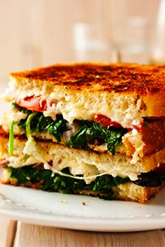 Delicious Mediterranean Grilled Cheese Sandwich Recipe