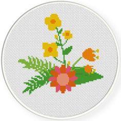Elegant Flower 4 Cross Stitch Pattern