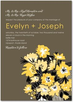 Textured Bouquet Wedding Invitations $1.79 #Weddinginvitations #Weddings