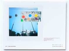 John Baldessari _ Calendar is 25 euros, shipping included. Proceeds will benefit Big Brothers Big Sisters (Mississippi)