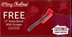#Coupon - #Free Snow Brush with Scraper at Valu Home Centers
