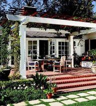 back porch extension love the pergula/arbor