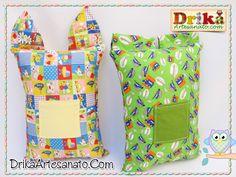 Artesanato em tecido: Travesseiros divertidos