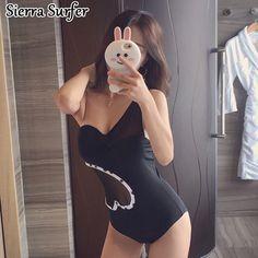 Trikini Beachwear Swimsuits Womens High Waist Swimsuit One-Piece 2018 New 2018 Sexy Web Celebrity Underwire Badpak Dames Fato De