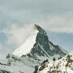 The Matterhorn. {I got to visit the Swiss Alps with my family when I was quite a bit younger, been dying to return someday}