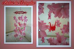 ✩EXCLUSIVIDADE ATELIÊ DA DETYNHA✩  Móblie feito com flores de sakuras (mais conhecidas como flores de cerejeiras) é a Flor nacional do Japão. Coisa mais linda de meu Deus!